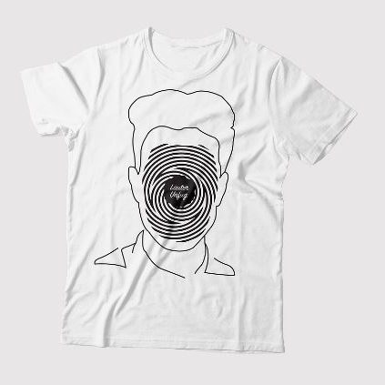 """Lauter Unfug"" Fingerprint Basic T-Shirt Herren Weiss"